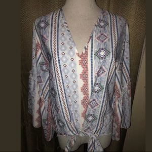 Anthropologie Lavender Field Shirt M NWT Blue Bell